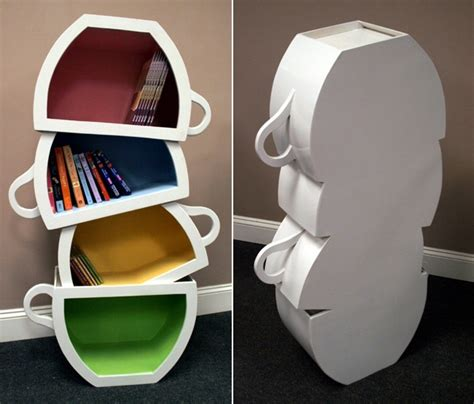 etagere tasse biblioth 232 que design en forme de tasse de th 233