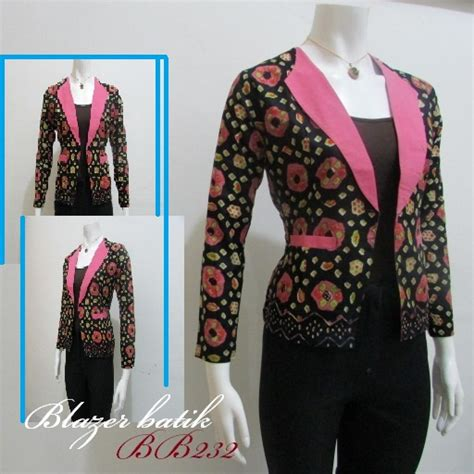 Baju Blazer Wanita 7 baju kerja wanita blazer batik modern 1000 model
