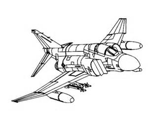 Fighter Aircraft Drawings Amd Coloring Sheets  F4 Phantom sketch template