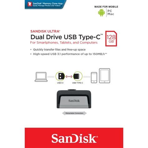 Sandisk Usb 3 1 Ultra Type C Dual Drive Usb Otg 32gb Garansi Resmi sandisk 128gb ultra dual usb 3 1 type c flash drive
