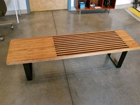 nelson style bench metro modern george nelson style platform bench nelson bench treenovation