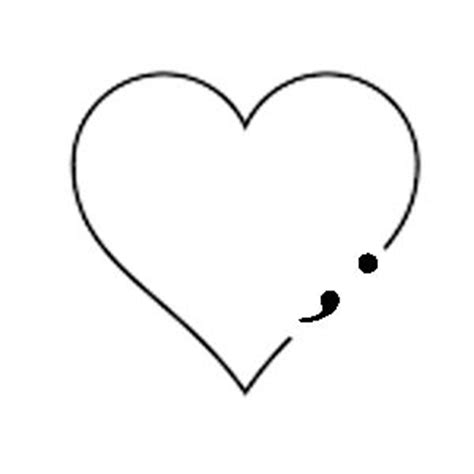 31 best semicolon heart tattoo 17 best images about tattoos on