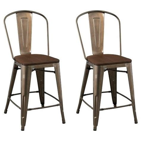 Carlisle Counter Stool by Carlisle 24 Quot Counter Stool With Wood Seat Metal