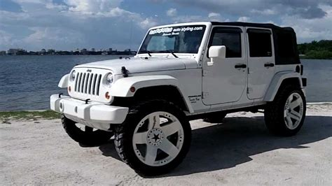white jeep black rims lifted white lifted jeep wrangler wallpaper 1280x720 14107