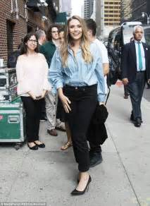 The Olsens Second Fashion Serving Elizabeth And by Elizabeth Looks Chic In Blue Blouse In New York City