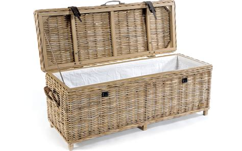 wicker bench storage mystique rattan storage bench buy online at kontenta