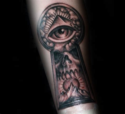 eye keyhole tattoo 50 keyhole tattoo designs for men manly ink ideas