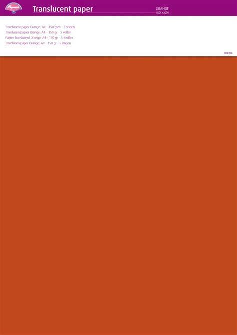 Paper A4 150 Gsm Kertas pergamano translucent paper orange a4 150 gsm 5 sheets