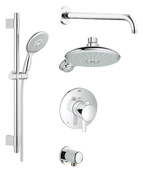 grohe 42841000 europlus mounting set grohe grohflex shower set thermostat valve 35052 000 europlus bathroom faucets for your
