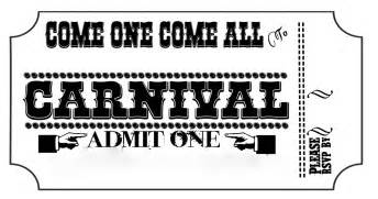 carnival tickets templates free printable