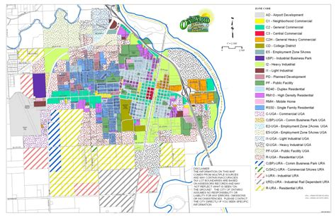 map of oregon ontario planning and zoning city of ontario oregon
