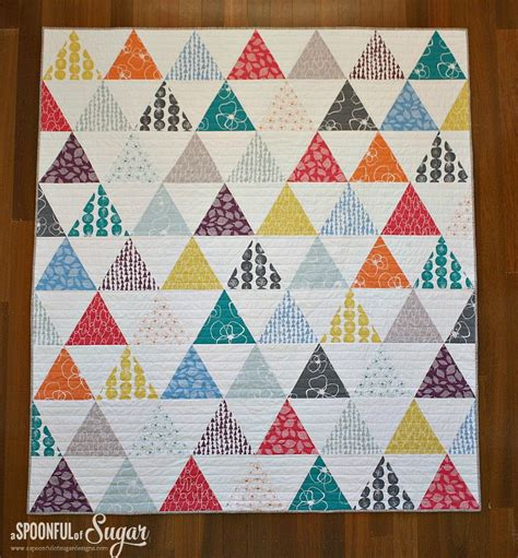 How To Quilt Triangles by Triangle Quilt Part 3 A Spoonful Of Sugar