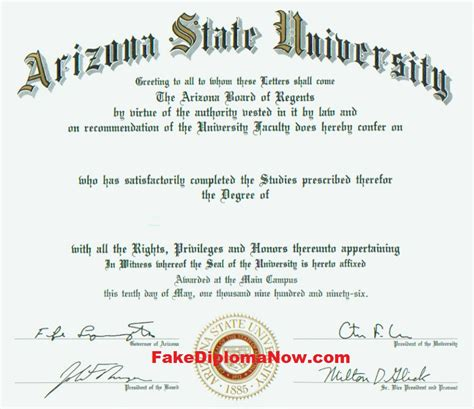 Of Arizona Free Mba by College Diploma Sles Our Novelty Degree And