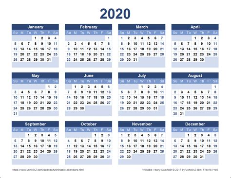 Kalender 2020 Pdf 2020 Calendar Templates And Images