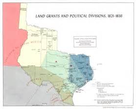 land grants and political divisions 1821 1836 map