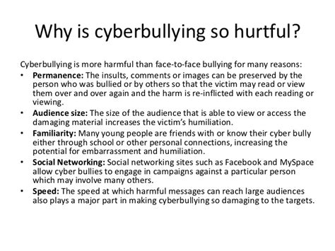 thesis statement on social media bullying cyberbullying powerpoint