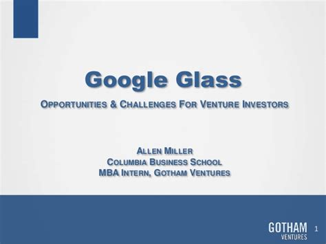 Air Bnb Mba Intern by Glass Vc Investment Thesis