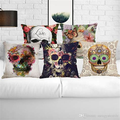 2018 new american skeleton cushion home decor