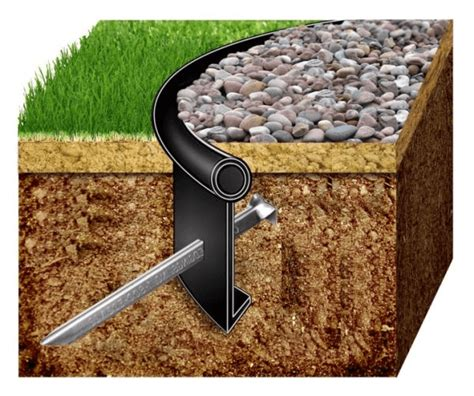 Landscape Edging Pins How To Install Lawn Edging Primrose