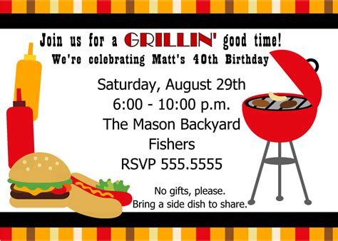 Cookout Invitation Template