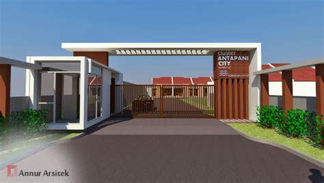 desain gerbang minimalis desain rumah perumahan minimalis cluster ancy i annur arsitek