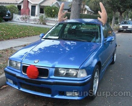 reindeer car antlers quirky pinterest
