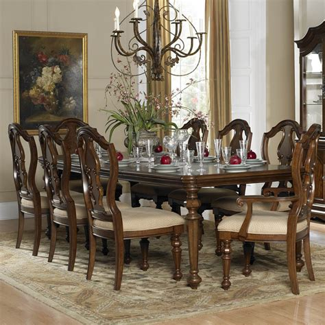 traditional dining room sets homelegance montrose 9 extension dining room set in warm brown traditional dining sets