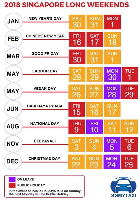 Calendar 2018 Including Holidays School Holidays Singapore 2017 2018 19