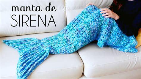 cola de sirena en crochet reciclando con erika manta o poncho de cola de sirena a