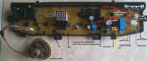 Modul Mesin Cuci Samsung Satu Tabung teknisi pondok asri tawangmangu aneka masalah mesin cuci