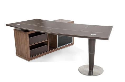 Modern Desk With Storage Modrest T093 Modern Office Desk And Side Storage Cabinet