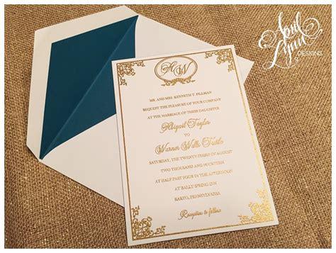 custom wedding invitations thermography abby warner s wedding invitation suite april