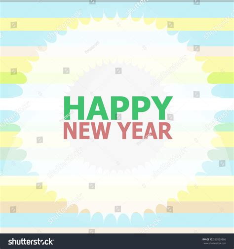 happy new year lettering greeting card stock vector