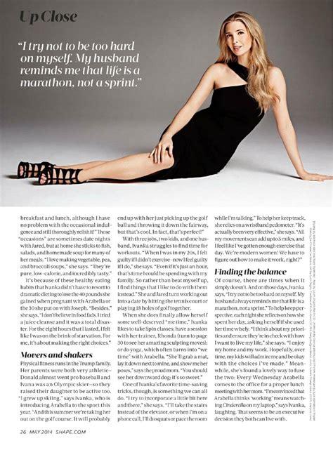 ivanka trump shape magazine usa may 2014 issue ivanka trump shape magazine usa may 2015 issue