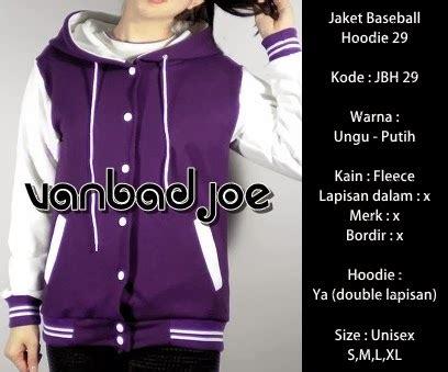 Hoodie Anak Ungu jaket baseball hoodie ungu putih 29 vanbadjoe