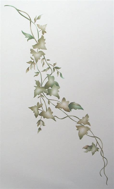 freestyle ivy wall stencil painting stencil via etsy