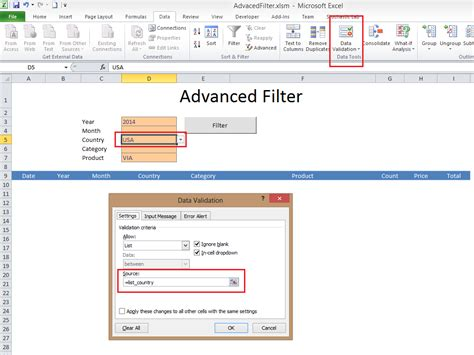 Template Filter advanced filter excel template excel vba templates