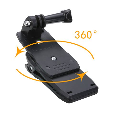 Gopro 5 4 360 Release Backpack Clip Cl Mount 360 rotating backpack release clip cl mount for gopro 3 4 sj4000 tosave