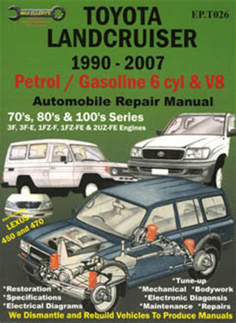 Toyota Landcruiser 80 Series Workshop Manual Free Toyota Land Cruiser Petrol 1990 2007 Repair Manual Ep To26