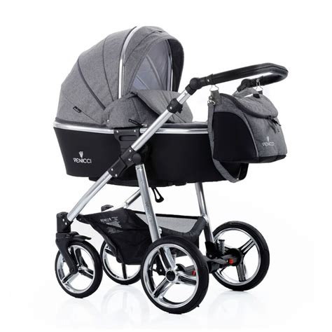 set mauza black 3in1 venicci denim grey 3 in 1 package pushchair carrycot