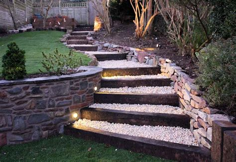 garden stairs ideas truly innovative garden step lighting ideas garden