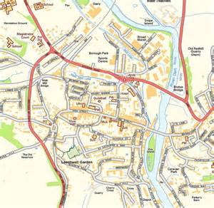 panoramio photo of map of totnes showing the leechwell