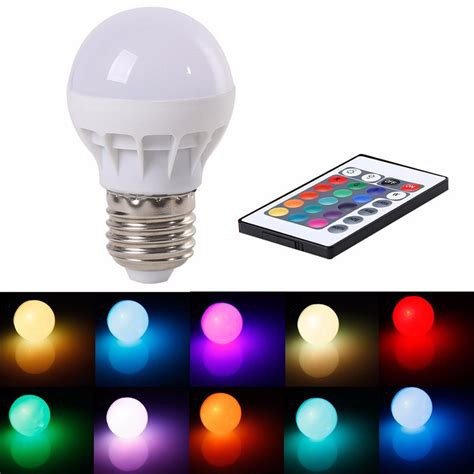 16 Color Changing Led Light Bulb With Remote Control Led Light Bulb With Remote