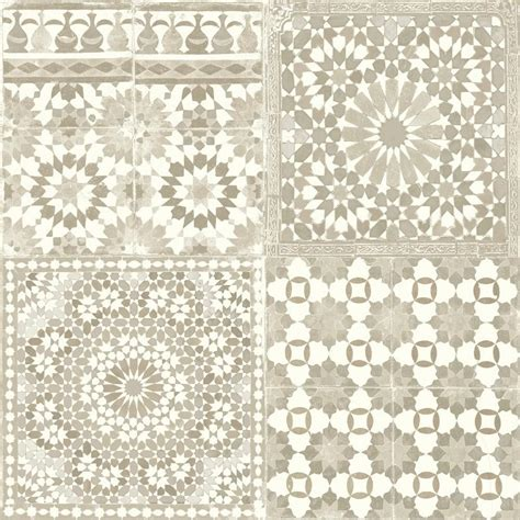 tile pattern wallpaper grandeco botanical moroccan tile pattern wallpaper retro