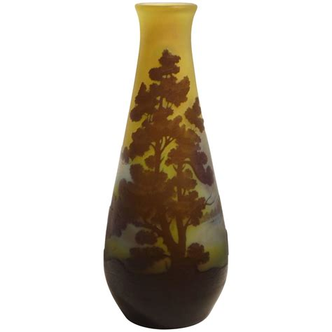 vasi galle emile galle nouveau vase signed for sale at 1stdibs