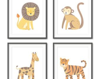 Zoo Animal Nursery Etsy Zoo Animal Nursery Decor