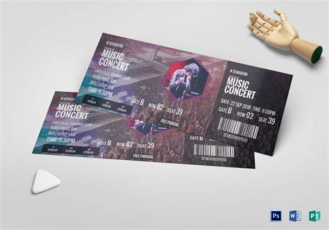 Music Concert Ticket Design Template In Psd Word Publisher Pages Concert Ticket Design Template Free
