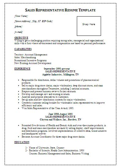 sales representative resume template sales representative resume template formsword word