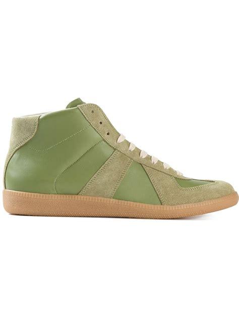 maison margiela sneakers mens maison margiela replica sneakers in green for lyst