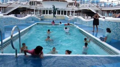 inside cruise ship pool